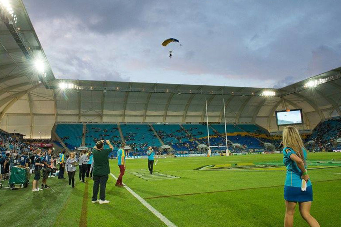 Cbus Stadium Hire Parachuting